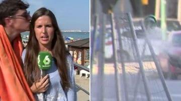 elisabeth lopez beso reportera mas vale tarde lasexta