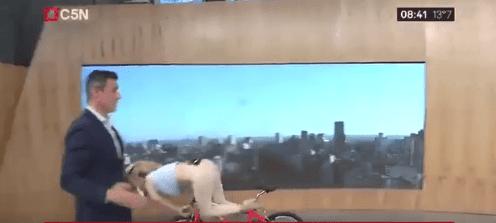 mariela fernandez golpe caida bicicleta mañanas argentinas